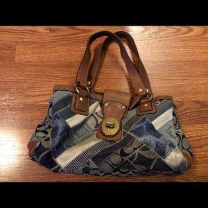 AUTHENTIC blue jean Coach purse!